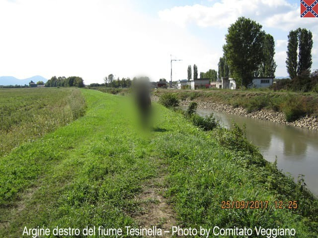Risanamento dell'argine del fiume Tesinella vicino al depuratore di Grisignano