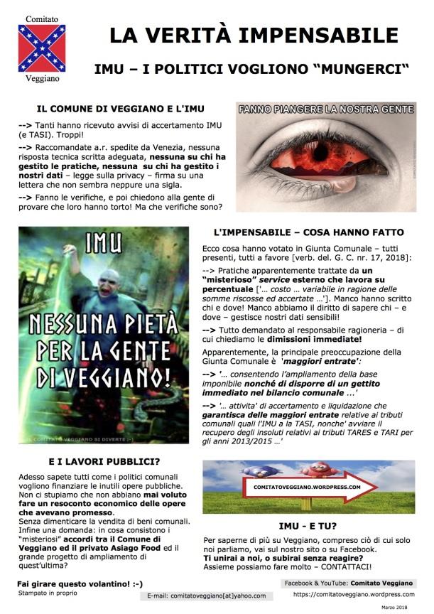 Accertamenti IMU a Veggiano, senza dimenticare gli accertamenti TASI ed i lavori pubblici